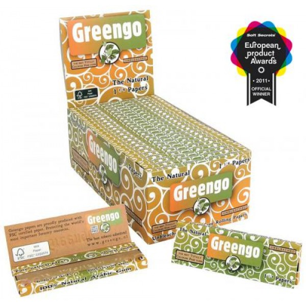 Greengo Unbleached 1 1/4 papers BOX