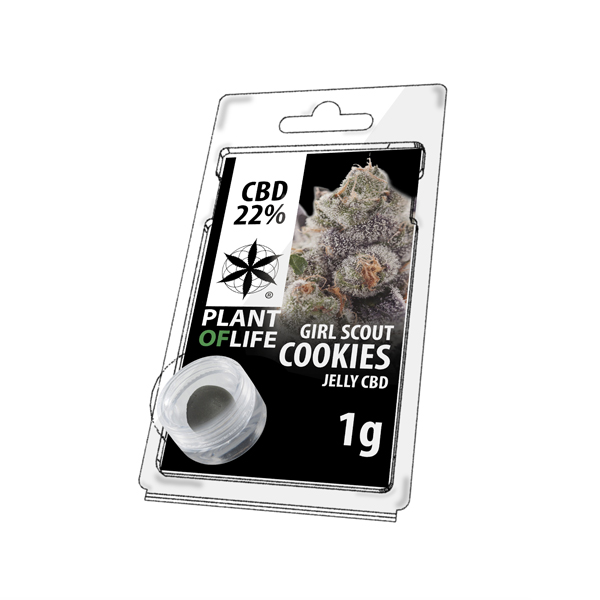 Girl Scout Cookies jelly hash CBD solid 22%