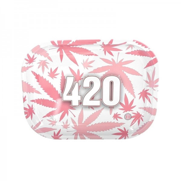 420 Pink rolling tray | Small