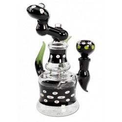 Black Leaf | Bubbler | Horns | 21cm