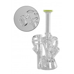 Black Leaf Bong | Recycler | 25cm
