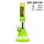 Amsterdam| Green/Yellow bong | 30cm | Beaker