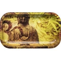 Buddha Hemp Leafs rolling tray | Medium