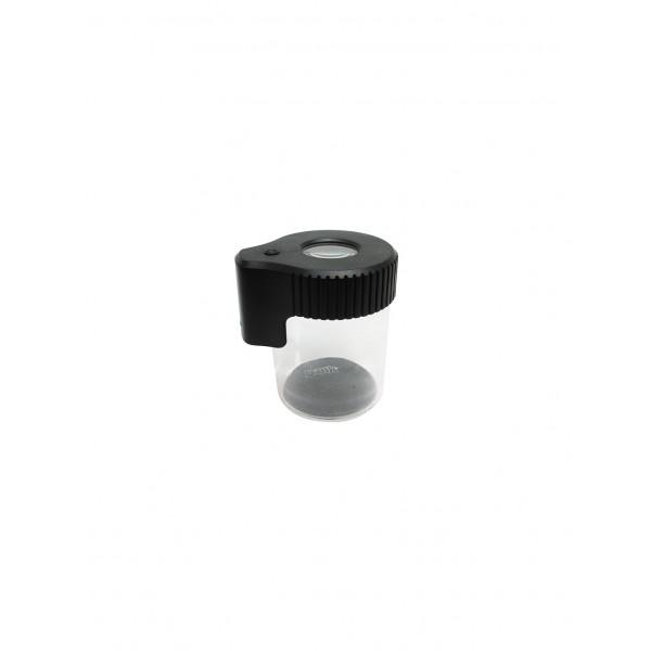 Dank Magnifying LED| Glass Jar | Black