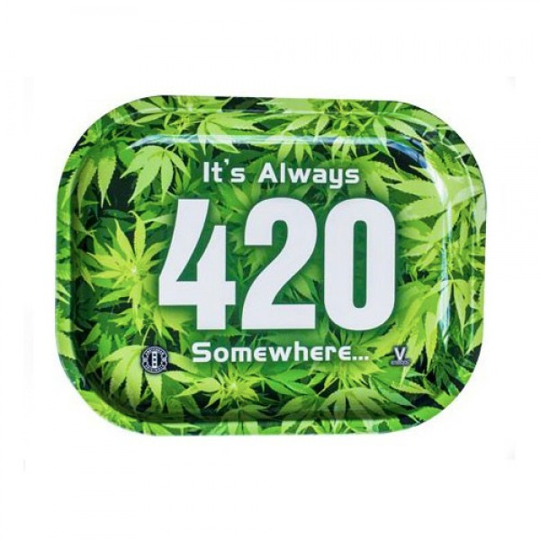 It's always 420 somewhere.. Small rolling tray