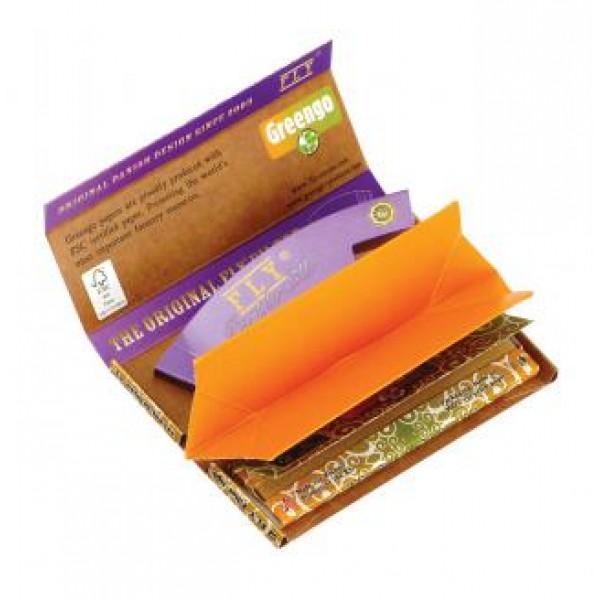 Greengo Festival pack Kingsize Slim | rolling tray | Brown silk FLY tips