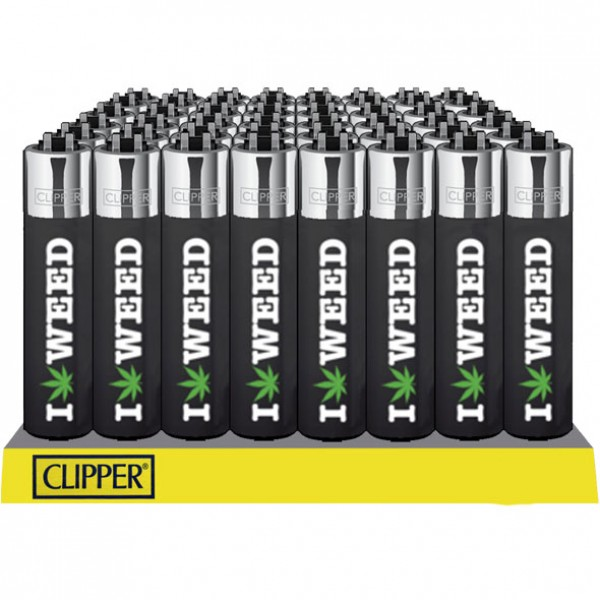Lighter | Clipper | I love weed | Refillable