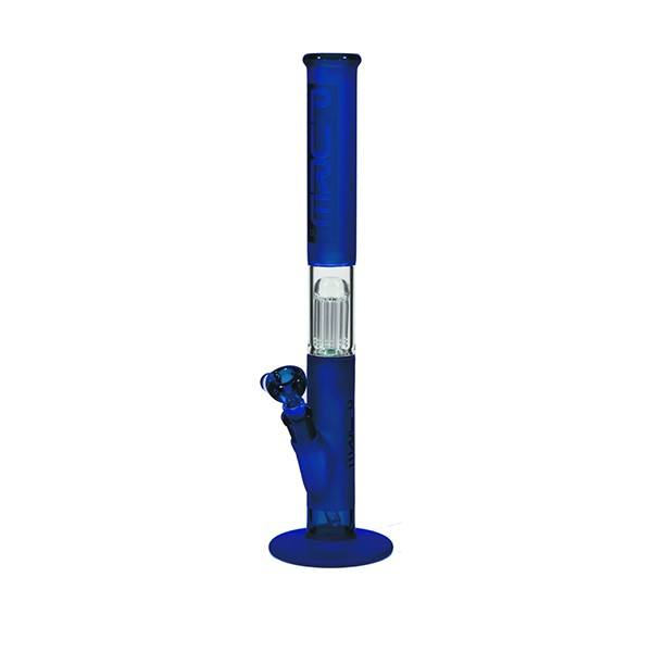 Pure Glass bong | 10 Arm tree percolator | blue Frost | 50 cm