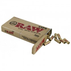 Raw prerolled filter tips box 100pcs