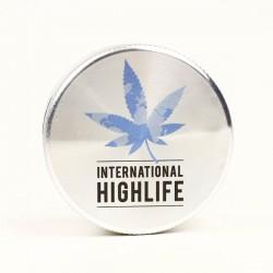 weed grinder | 2 part | International Highlife | Aluminium |  Ø 50mm