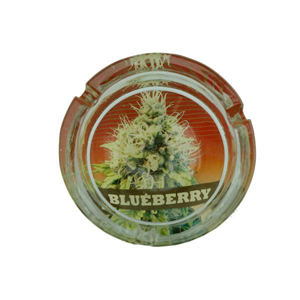 Ashtray   blueberry   glass