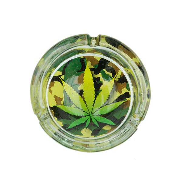 Ashtray | cannabis camouflage | glass