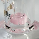Black Leaf glass bong | pink | Oilbong | Microperc  Drum Diffusor | 20 cm