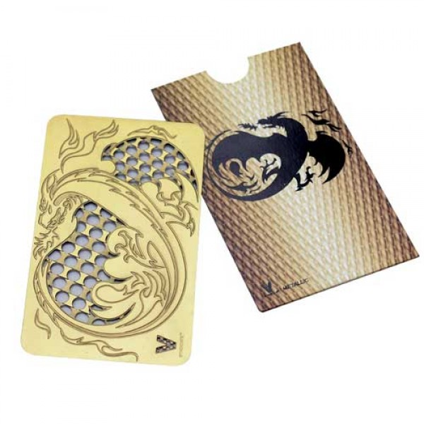 Weed flat grinder | dragon gold | stainless steel