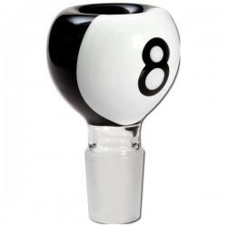 bong bowl   pool/billiard 8 ball   glass   Ø 18,8 mm
