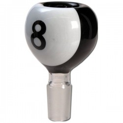 bong bowl | pool/billiard 8 ball | glass | Ø 14,4 mm
