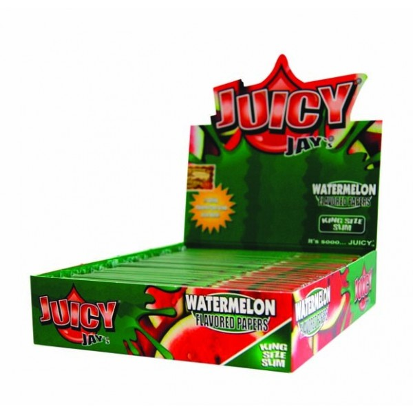 Juicy Jay's Kingsize Slim Watermelon | Box 24 Pcs