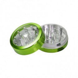 weed grinder | 4 part | green | Aluminium |  Ø 40mm |clear view