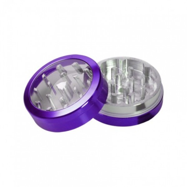 weed grinder | 4 part | purple | Aluminium |  Ø 40mm |clear view
