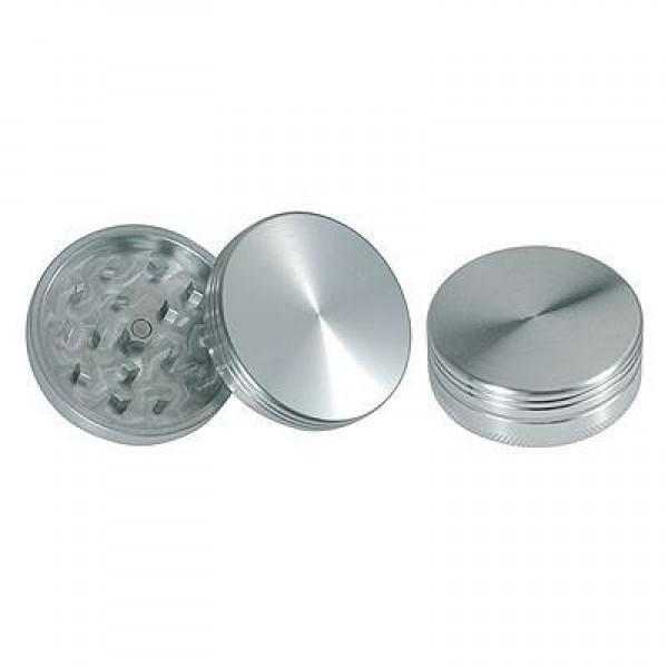 weed grinder | 2 part | Silver | Aluminium |  Ø 40mm