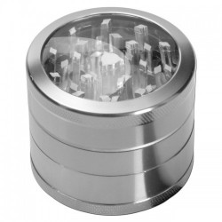 weed grinder | 4 part | Black | silver |  Ø 50mm|clear view