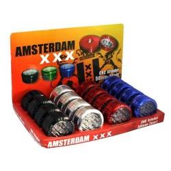 weed grinder | 2 part | Amsterdam | Push Up | Aluminium |  Ø 50mm