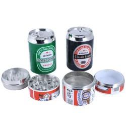 Weed grinder | 4 part | Beercan | Aluminum | polinator |  Ø 50 mm