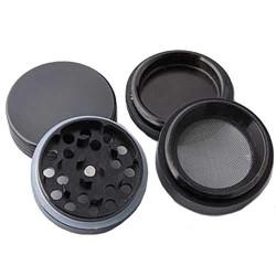 weed grinder   4 part   black   Aluminium    Ø 40mm