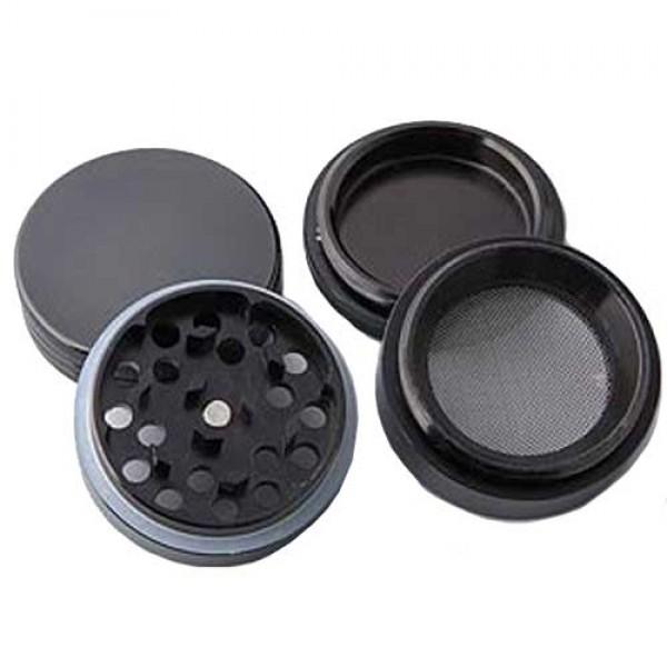 weed grinder | 4 part | black | Aluminium |  Ø 50mm