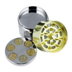 Weed grinder | 3 part | Gun barrel | Aluminum | polinator | Ø 40 mm