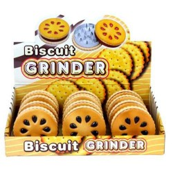 Weed grinder | 2 part | Cookie| Aluminum | Ø 50 mm