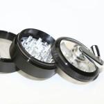 weed Mill  grinder | 4 part | Black | Aluminum |  Ø 62mm