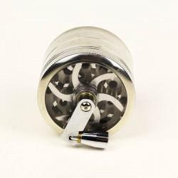weed grinder | 4 part | Silver | Aluminum |  Ø 63mm