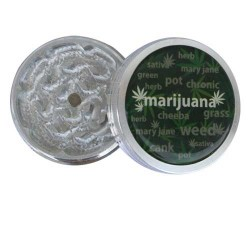 weed grinder | 2 part | Marijuana Logo | Aluminium |  Ø 50mm