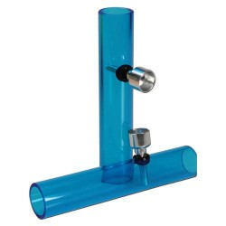 Mini Shotgun Pipe blue acrylic
