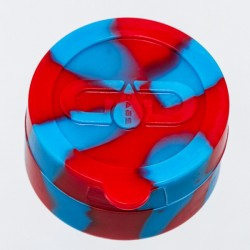 Grace Glass Dabs Red/Blue Silicone Jar Ø:55mm