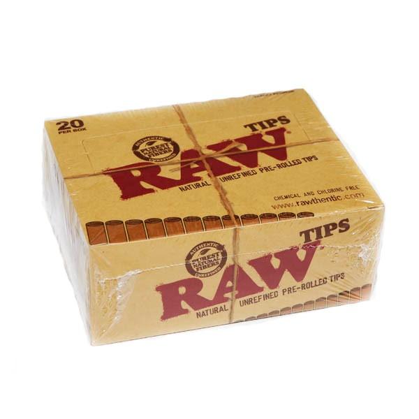 RAW tips prerolled Box 20 Pcs