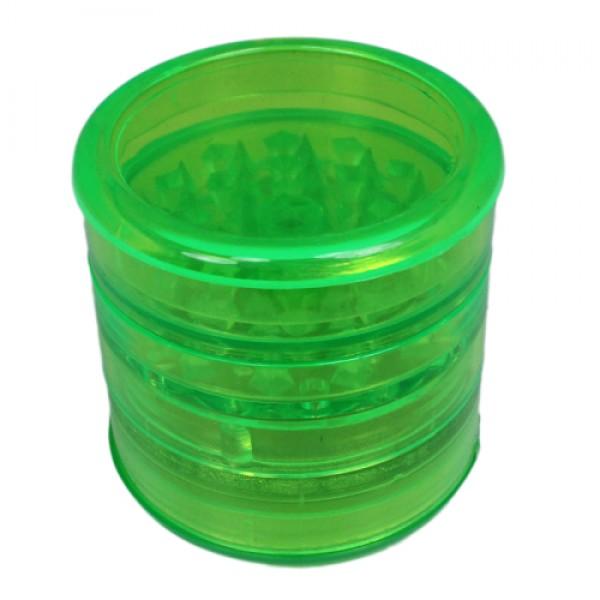 Weed grinder super   5 part    acrylic   Green   Ø 60mm